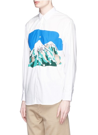 Front View - Click To Enlarge - Comme Des Garçons Shirt - Mount Fuji cutout print shirt
