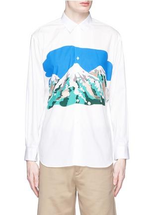 Main View - Click To Enlarge - Comme Des Garçons Shirt - Mount Fuji cutout print shirt