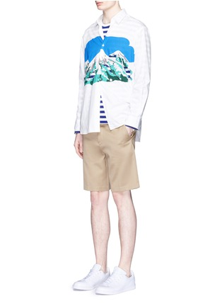 Figure View - Click To Enlarge - Comme Des Garçons Shirt - Mount Fuji cutout print shirt