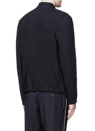 Back View - Click To Enlarge - Tim Coppens - Bonded virgin wool bomber jacket