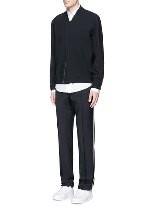 Figure View - Click To Enlarge - Tim Coppens - Bonded virgin wool bomber jacket