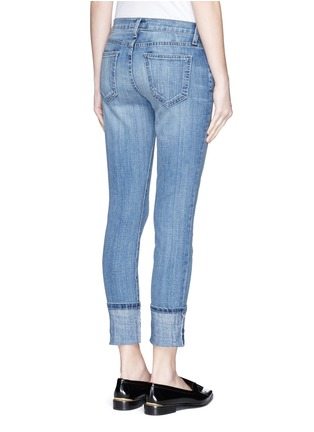 Back View - Click To Enlarge - Current/Elliott - 'The Cuffed Skinny' wide cuff jeans