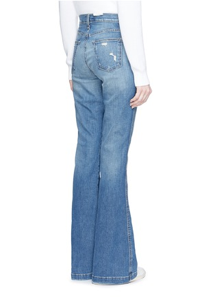 Back View - Click To Enlarge - Current/Elliott - 'The Judy Flare' high waist distressed denim pants