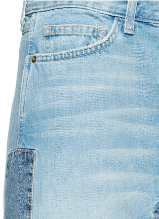 Detail View - Click To Enlarge - Current/Elliott - 'The Reconstructed' denim maxi skirt