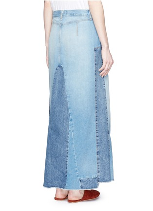 Back View - Click To Enlarge - CURRENT/ELLIOTT - 'The Reconstructed' denim maxi skirt