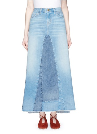 Main View - Click To Enlarge - CURRENT/ELLIOTT - 'The Reconstructed' denim maxi skirt