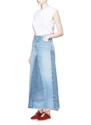 Figure View - Click To Enlarge - Current/Elliott - 'The Reconstructed' denim maxi skirt