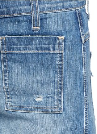 Detail View - Click To Enlarge - Current/Elliott - 'The Westward' high waist distressed denim shorts