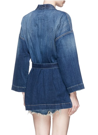 Back View - Click To Enlarge - Current/Elliott - Denim kimono jacket