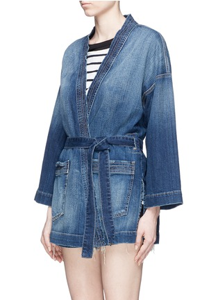 Front View - Click To Enlarge - Current/Elliott - Denim kimono jacket