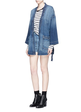 Figure View - Click To Enlarge - Current/Elliott - Denim kimono jacket
