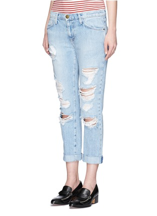 Front View - Click To Enlarge - Current/Elliott - 'The Fling' distressed jeans