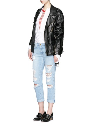 Figure View - Click To Enlarge - Current/Elliott - 'The Fling' distressed jeans