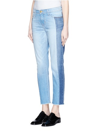 Front View - Click To Enlarge - Current/Elliott - 'The Seamed Vintage Straight' cropped jeans