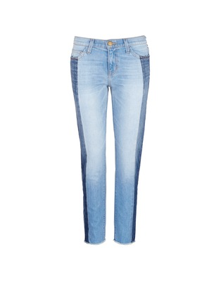 Main View - Click To Enlarge - Current/Elliott - 'The Seamed Vintage Straight' cropped jeans