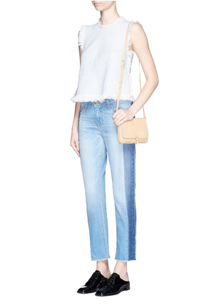 Figure View - Click To Enlarge - CURRENT/ELLIOTT - 'The Seamed Vintage Straight' cropped jeans