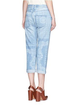 Back View - Click To Enlarge - Current/Elliott - 'The Boyfriend' bandana print jeans