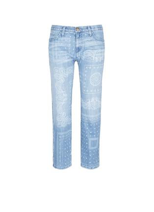 Main View - Click To Enlarge - Current/Elliott - 'The Boyfriend' bandana print jeans