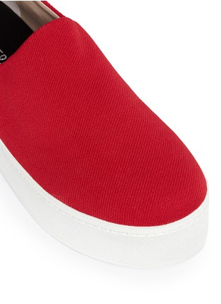 Detail View - Click To Enlarge - Opening Ceremony - Twill flatform skate slip-ons