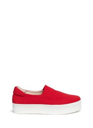 Main View - Click To Enlarge - Opening Ceremony - Twill flatform skate slip-ons