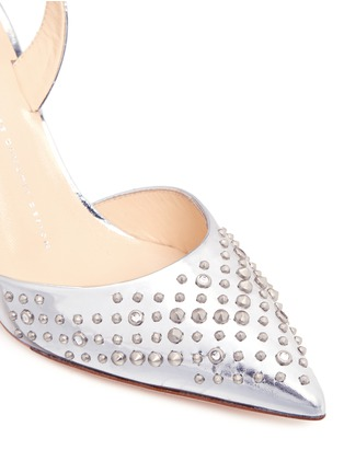 Detail View - Click To Enlarge - Giuseppe Zanotti Design - Stud mirror leather pumps