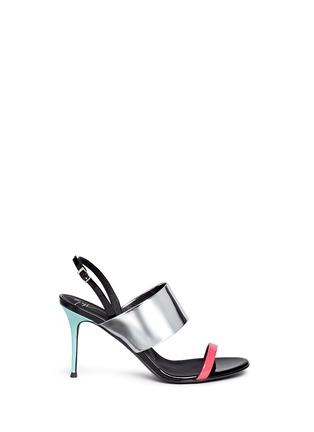 Main View - Click To Enlarge - Giuseppe Zanotti Design - 'Mistico' leather slingback sandals