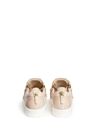 Back View - Click To Enlarge - Giuseppe Zanotti Design - 'London' leather low top sneakers