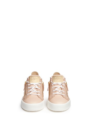 Front View - Click To Enlarge - Giuseppe Zanotti Design - 'London' leather low top sneakers