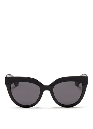 Main View - Click To Enlarge - Dior - 'Soft 1' matte brow bar acetate cat eye sunglasses