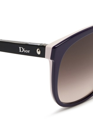 Detail View - Click To Enlarge - Dior - 'Montaigne' colourblock acetate oversize butterfly sunglasses