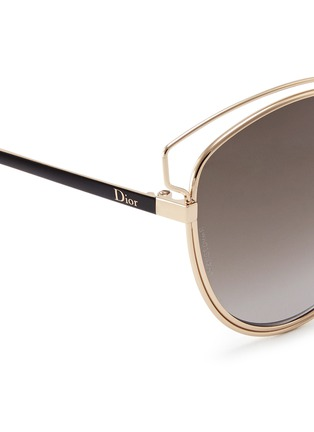 Detail View - Click To Enlarge - Dior - 'Sideral 2' wire outline temple metal sunglasses