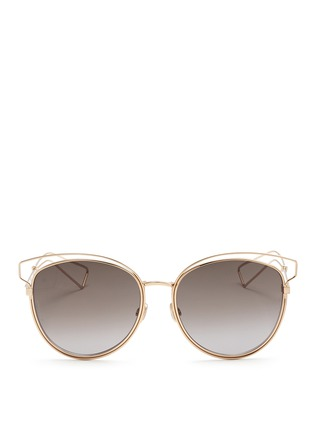 Main View - Click To Enlarge - Dior - 'Sideral 2' wire outline temple metal sunglasses