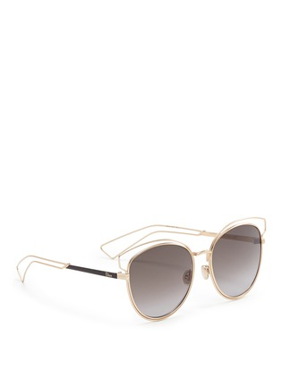 Figure View - Click To Enlarge - Dior - 'Sideral 2' wire outline temple metal sunglasses