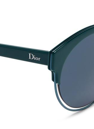 Detail View - Click To Enlarge - Dior - 'Sideral 1' metallic rim acetate cat eye sunglasses