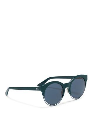 Figure View - Click To Enlarge - Dior - 'Sideral 1' metallic rim acetate cat eye sunglasses