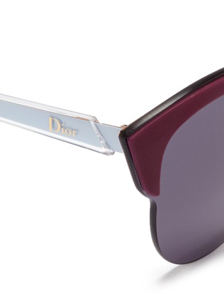 Detail View - Click To Enlarge - DIOR - 'Diorun' acetate brow bar rimless sunglasses