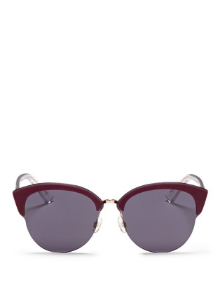 Main View - Click To Enlarge - DIOR - 'Diorun' acetate brow bar rimless sunglasses