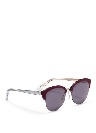 Figure View - Click To Enlarge - DIOR - 'Diorun' acetate brow bar rimless sunglasses