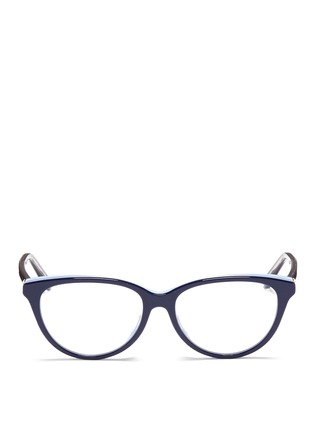 Main View - Click To Enlarge - Dior - 'Montaigne' colourblock acetate cat eye optical glasses