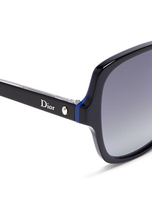 Detail View - Click To Enlarge - DIOR - 'Montaigne' colourblock acetate butterfly sunglasses