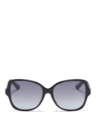 Main View - Click To Enlarge - DIOR - 'Montaigne' colourblock acetate butterfly sunglasses