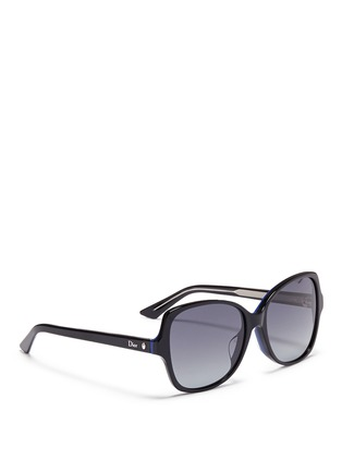 Figure View - Click To Enlarge - DIOR - 'Montaigne' colourblock acetate butterfly sunglasses