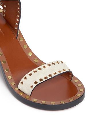 Detail View - Click To Enlarge - Isabel Marant - 'Jaeryn' eyelet suede sandals