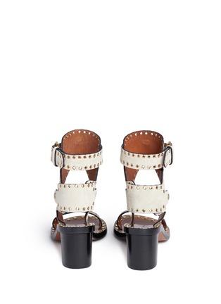 Back View - Click To Enlarge - Isabel Marant - 'Jaeryn' eyelet suede sandals