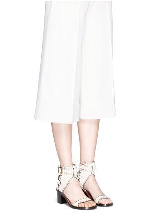 Figure View - Click To Enlarge - Isabel Marant - 'Jaeryn' eyelet suede sandals