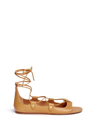 Main View - Click To Enlarge - ISABEL MARANT - 'Alisa' vegetal leather lace-up gladiator sandals