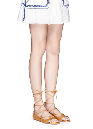 Figure View - Click To Enlarge - ISABEL MARANT - 'Alisa' vegetal leather lace-up gladiator sandals