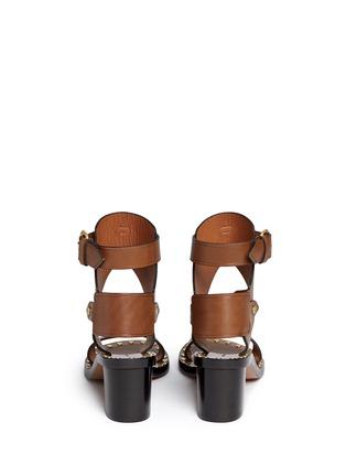 Back View - Click To Enlarge - ISABEL MARANT - 'Jaeryn' rivet leather sandal boots