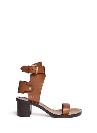 Main View - Click To Enlarge - Isabel Marant - 'Jaeryn' rivet leather sandal boots