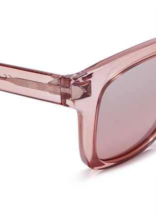 Detail View - Click To Enlarge - Valentino - 'Rockstud' square frame acetate sunglasses
